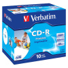 CD-R 80 Verbatim 52x, jewel box, printable, balení 10 ks
