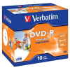 DVD-R Verbatim 4,7 GB, 16x, jewel box, printable, balení 10 ks