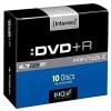 DVD+R Intenso 4,7 GB, 16x, slim case (balení 10 ks)