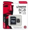 Karta micro SDHC Silicon Power, 8 GB, class 4 + adaptér SD